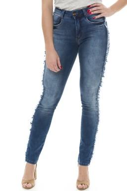 212922 Calça Jeans Feminina Skinny Desfiada (Frente)