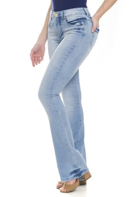 112714 Calça Jeans Feminina Boot Cut (Lateral)