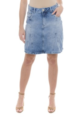 712905 Saia A Jeans com Recorte Frontal (Frente)