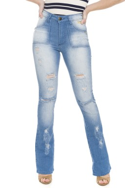 112721 Calça Jeans Flare Destroyed (Frente)