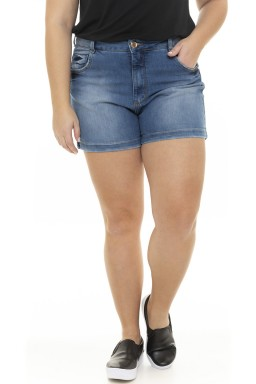 5119AR01 Shorts Jeans Feminina Plus Size  (Frente)