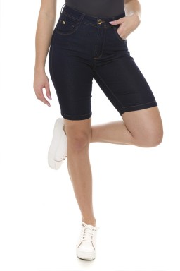 411907 Bermuda Ciclista Jeans Feminina  (Frente1)