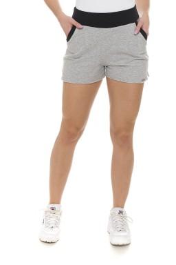 44611903 Shorts de Moletom com Elástico no Cós Mescla (Frente)