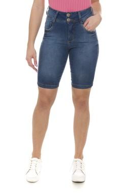 411909 Bermuda Ciclista Jeans Feminina (Frente)