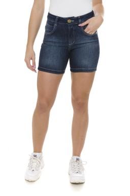 511825 Bermuda Meia Coxa Jeans Feminina (Frente)