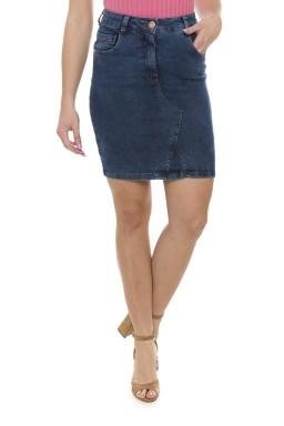 712902 Saia Jeans Feminina Secretária com Recorte Frontal (Frente2)