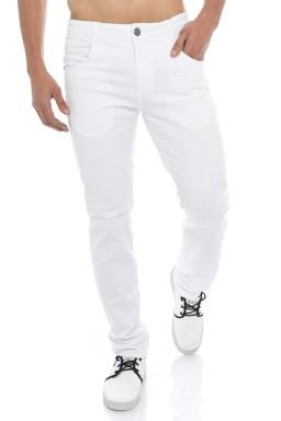 121910  Calça Jeans Masculina Branca (Frente)