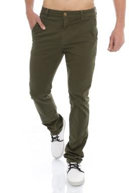 122923 Calça Jeans Masculina Verde Militar  (Frente)