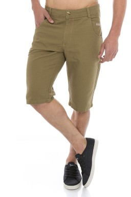 521815 Bermuda Jeans Masculina Castanho (Frente1)