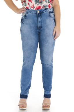 2118AR03 Calça Jeans Feminina Skinny Plus Size (Frente)