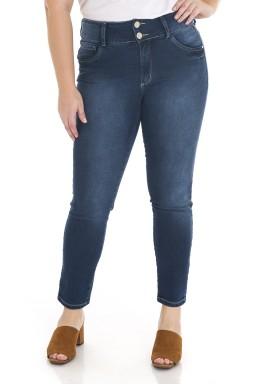 2129AR07 Calça Jeans Feminina Skinny Plus Size (Frente)