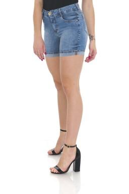 1512012 Bermuda Jeans Feminina Meia Coxa com Barra Italiana (Lateral1)