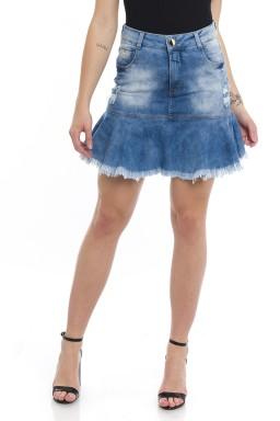 711900 Saia Jeans Peplum Destroyed (Frente)