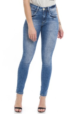 1212018  Calça Jeans Skinny Feminina Estonada Street (Frente)