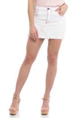 711907  Saia Jeans com Recortes Branco (Frente)