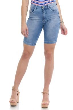 412001 Bermuda Ciclista Jeans Feminina (Frente)