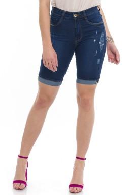 1412002 Ciclista Jeans Com Puídos e Barra Italiana (Frente)