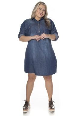 7130AR00 Chemise Jeans Plus Size (Frente)