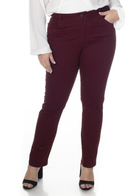 2130AR06017 Calça Jeans Skinny Plus Size Marsala (Frente1)