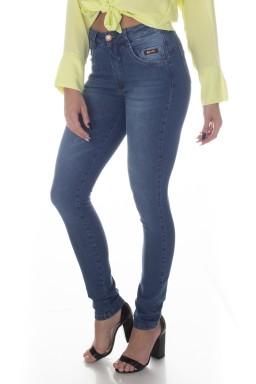 213001 Calça Jeans Feminina Skinny Recorte Coração (Frente1)