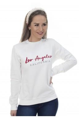 44512908198 Casaco de Moletom Los Angeles Off White (Frente)