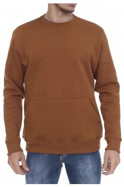 44523001251 Casaco de Moletom Masculino com Bolso Cobre (Frente)
